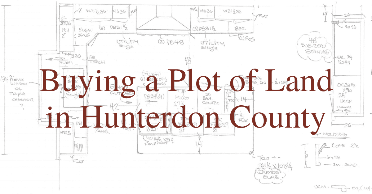 Buying a Plot of Land in Hunterdon County
